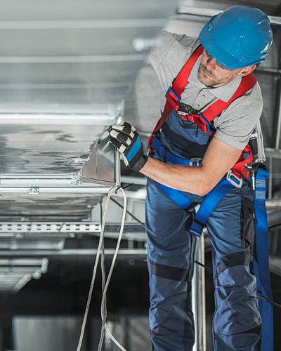 HVAC Commercial Support Installation